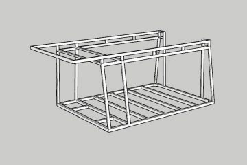 Screenshot of the frame in Sketchup 3D