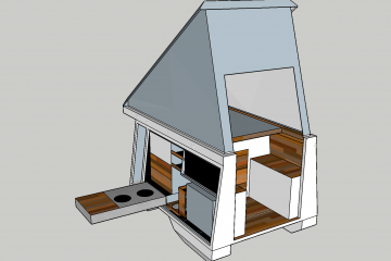 Screenshot of the final plan for the camper box in Sketchup 3D